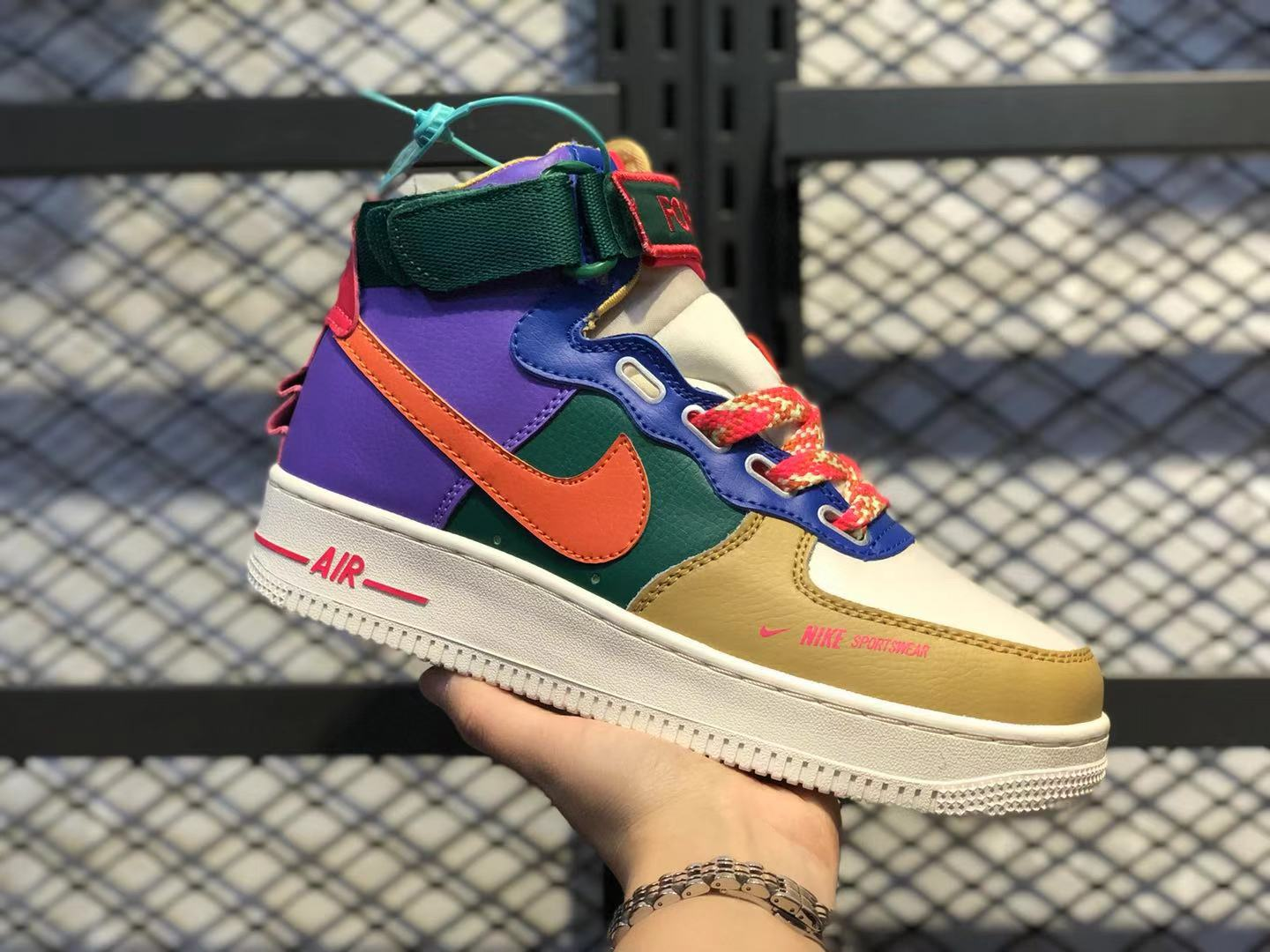 Nike Wmns Air Force 1 High Utility Multi-Color Sneakers Hot Sale CQ4810-046