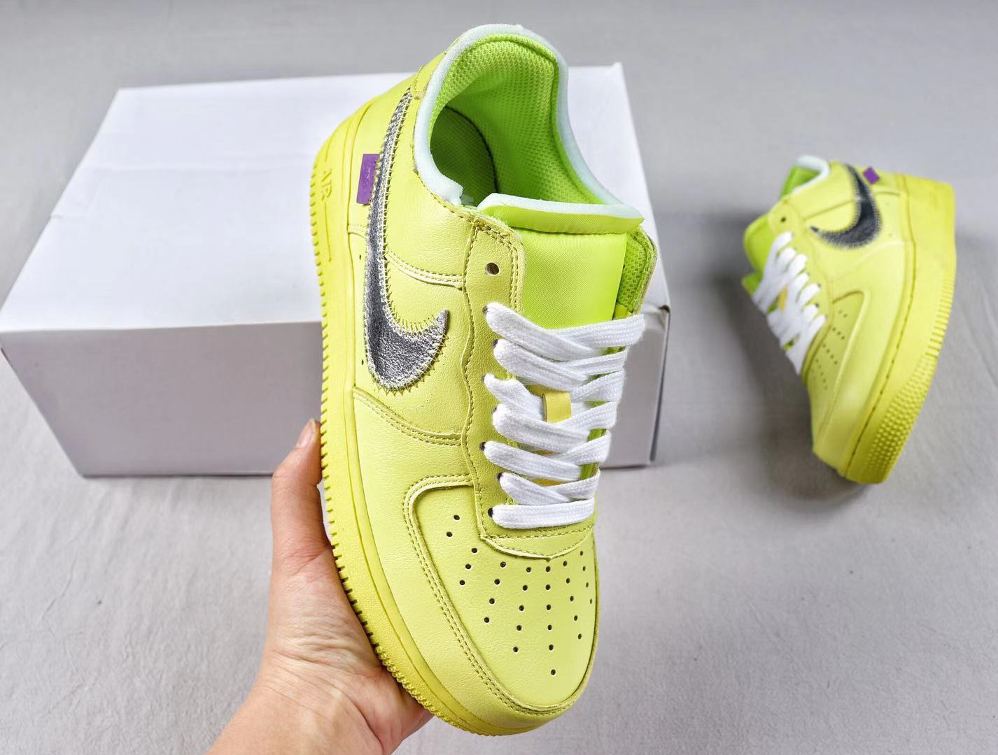 Off-White X Air Force 1 Low CI1173-700 Yellow/Metalic Silver In Stock