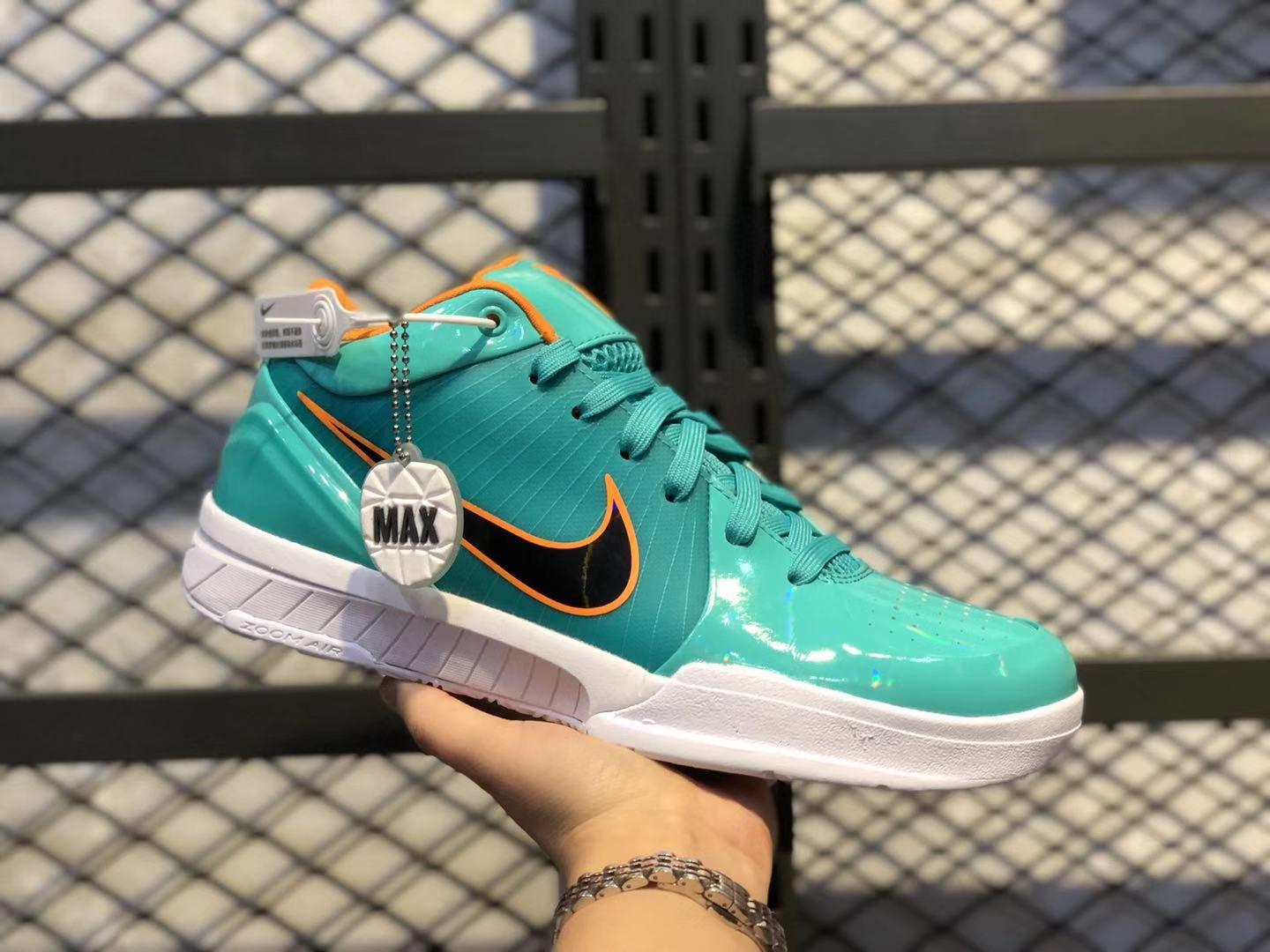 Undefeated x Nike Zoom Kobe 4 Protro Teal/Mango-White Top Shoes For Sale