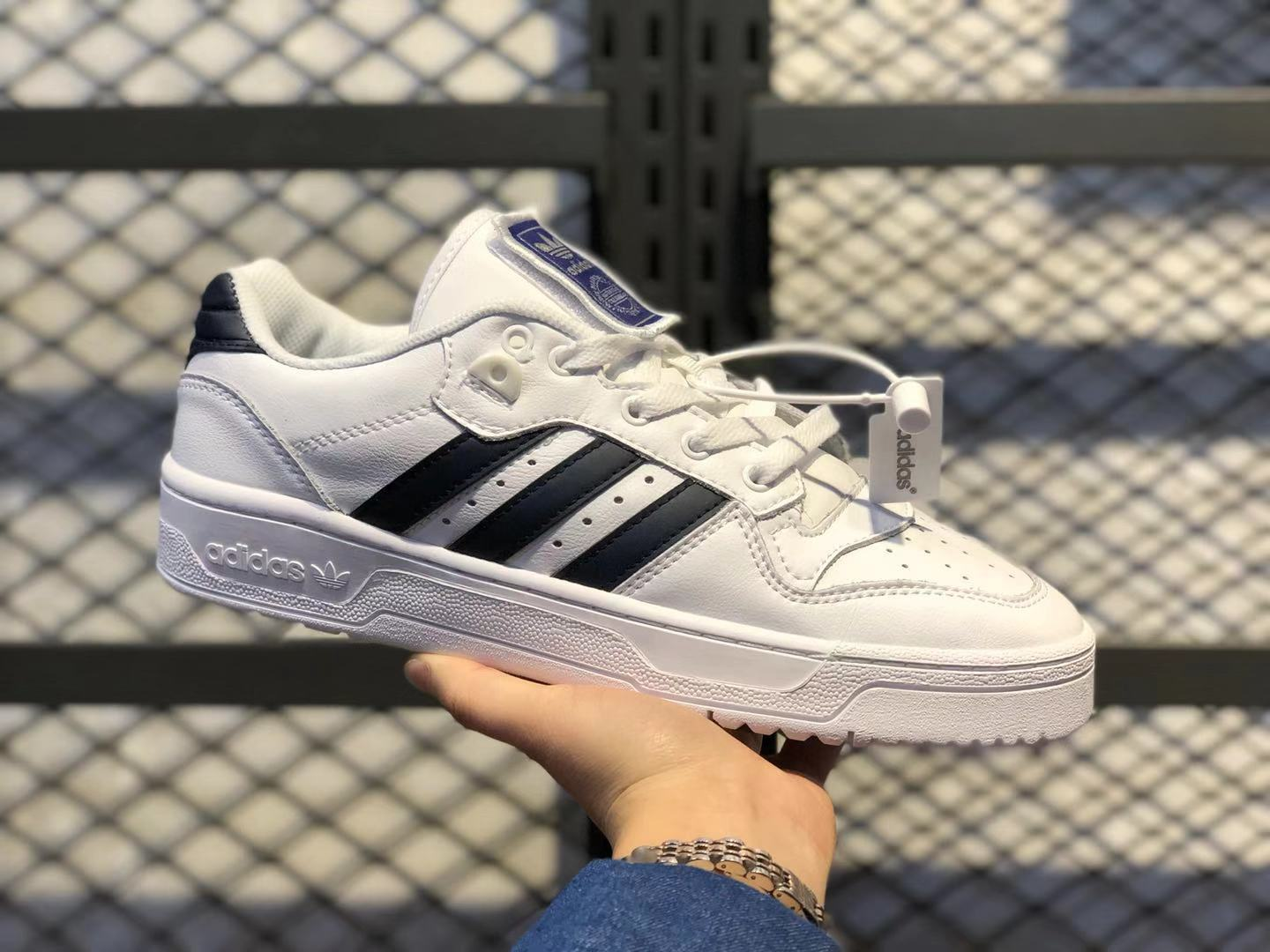 2020 Adidas Rivalry Low Cloud White/Dark Blue FV3578 Casual Shoes To Buy