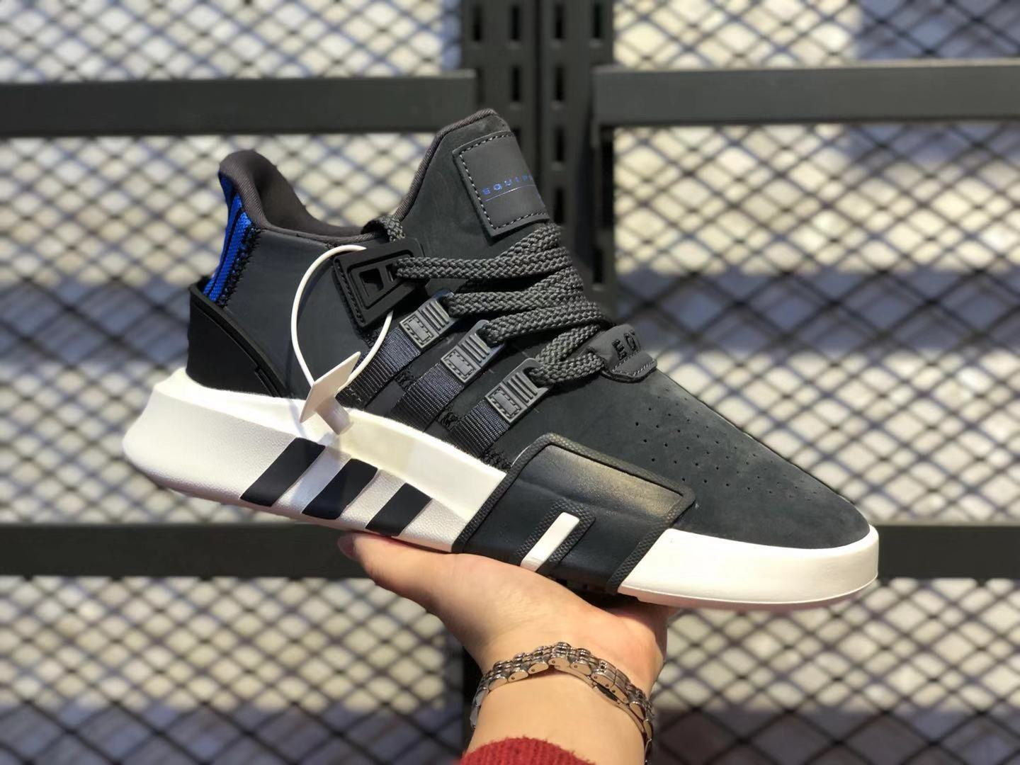 2020 New Adidas EQT Basketball ADV BD7811 Anthracite/Black-Blue To Sale