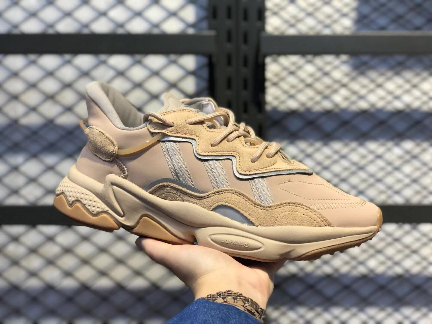 2020 New Release Adidas Ozweego St Pale Nude/Light Brown-Solar Red ...