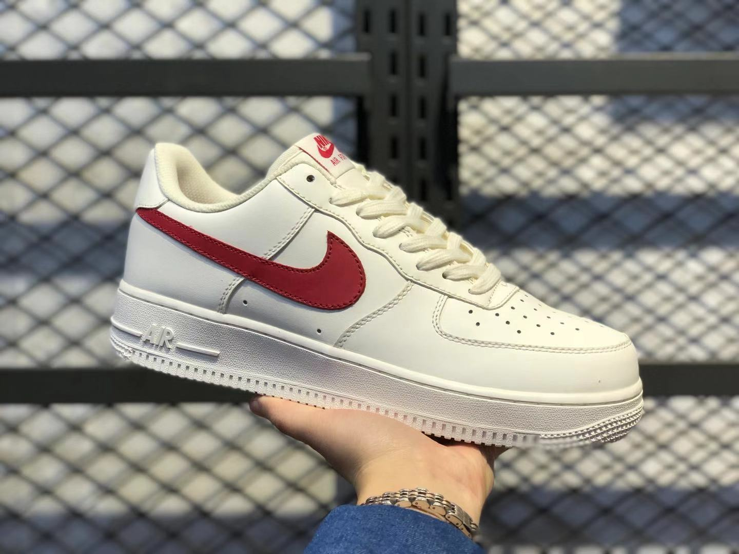 2020 Newest Nike WMNS Air Force 1 Low Sail/University Red Casual Shoes 315122-126