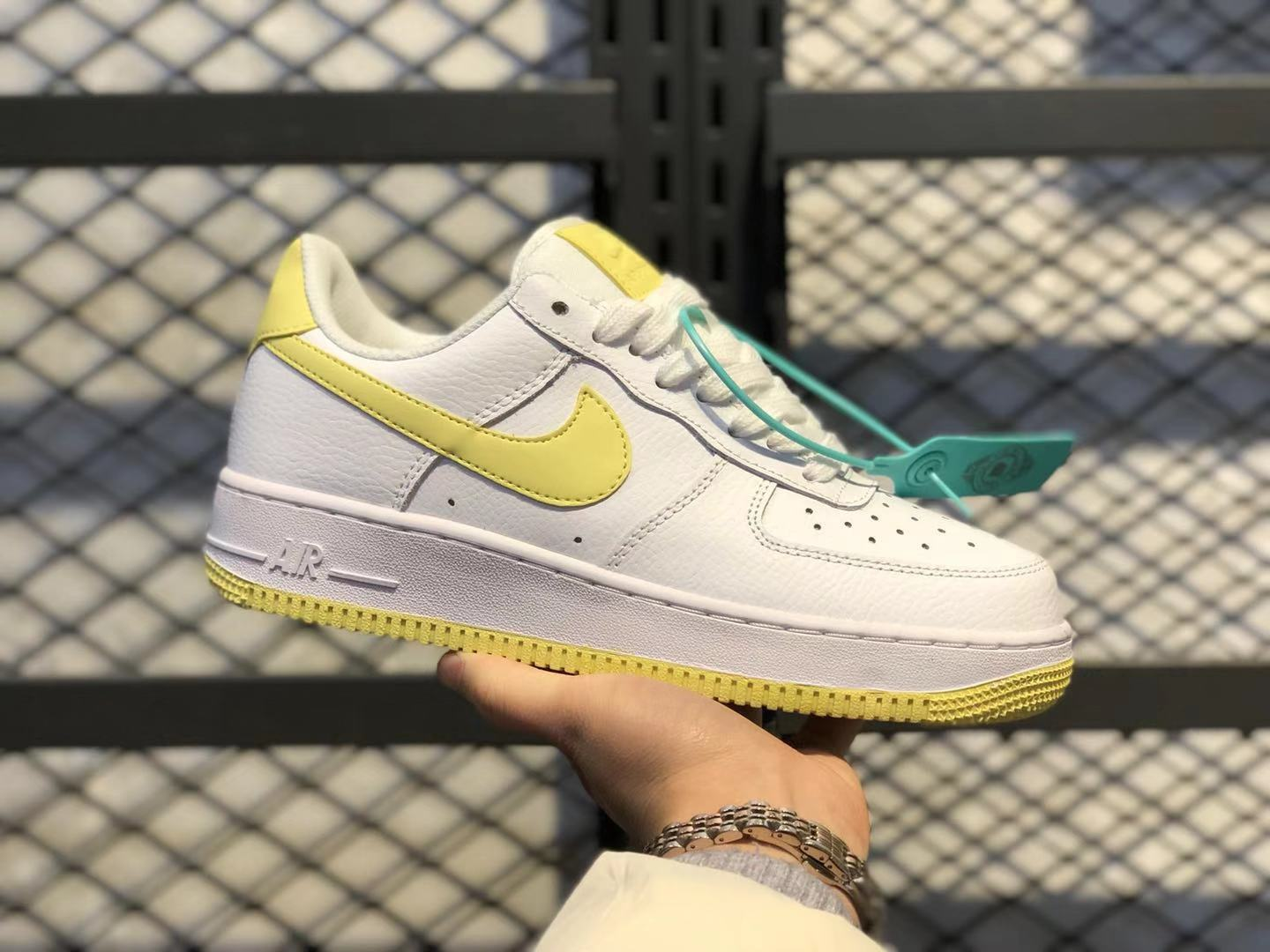 2020 Top Quality Nike Wmns Air Force 1 Low White/Bicycle Yellow AH0287-106