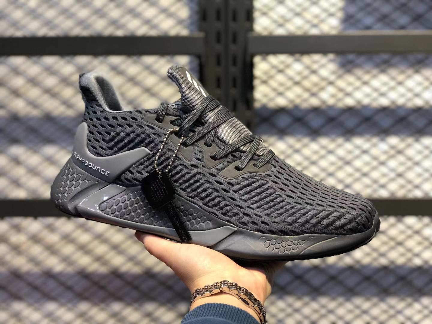 Adidas AlphaBounce Beyond Core Black/Carbon CG5592 Athletic Sneakers On Sale