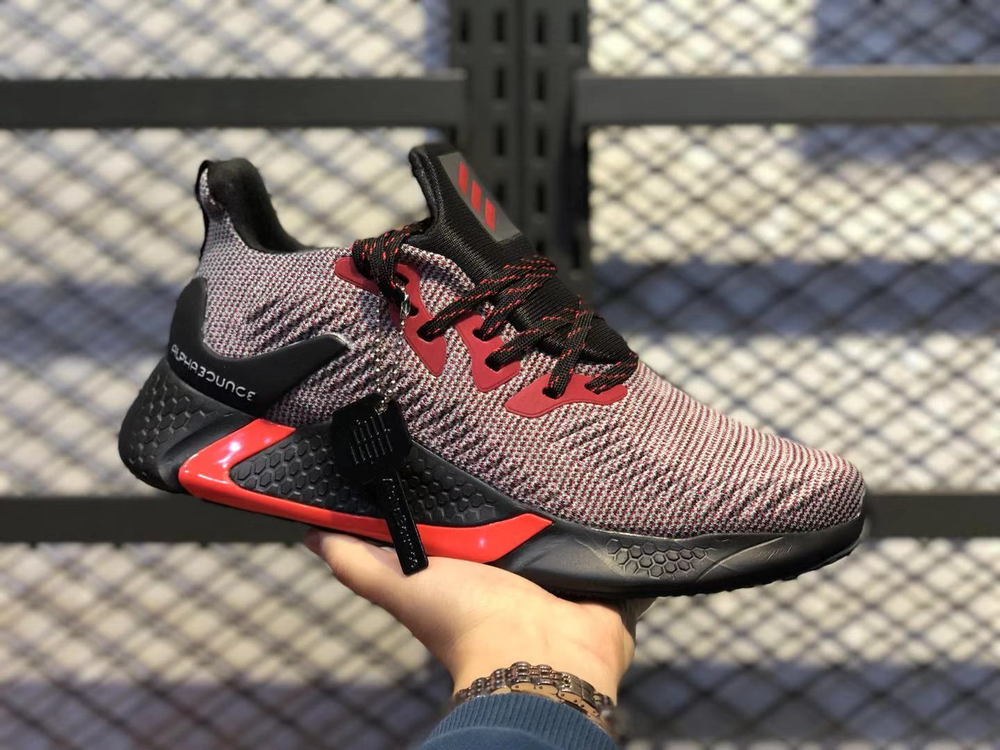 Adidas AlphaBounce Beyond Core Black/Red-Orange Athletic Sneakers Online Buy