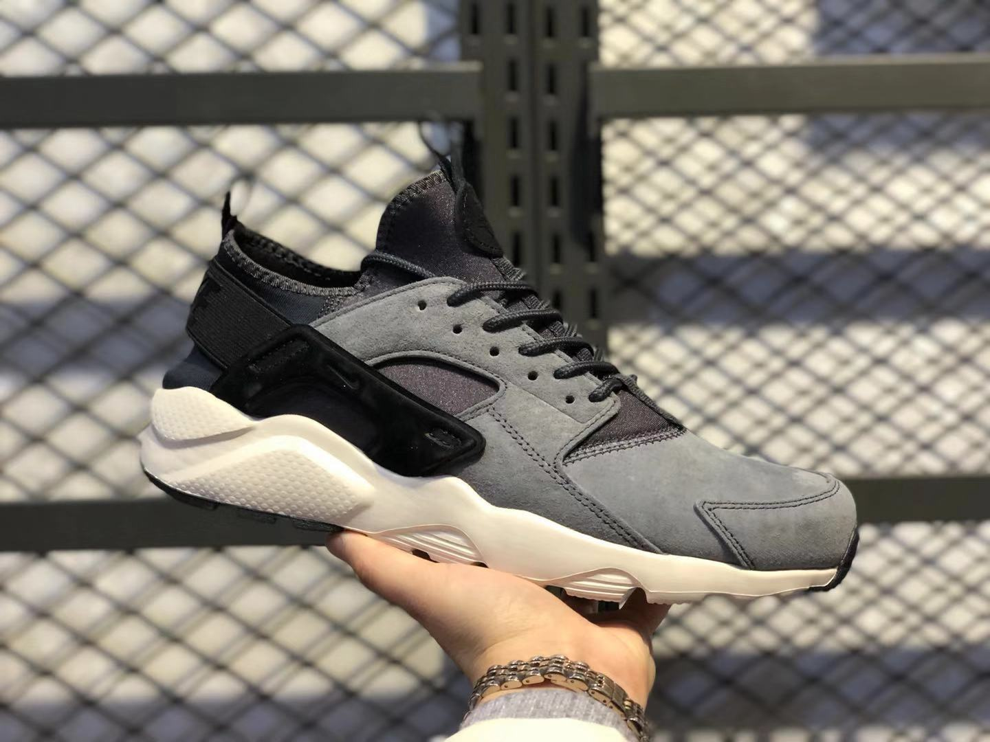 Adidas Air Huarache Run Core Black-Dark Grey Athletic Sneakers Free Shipping