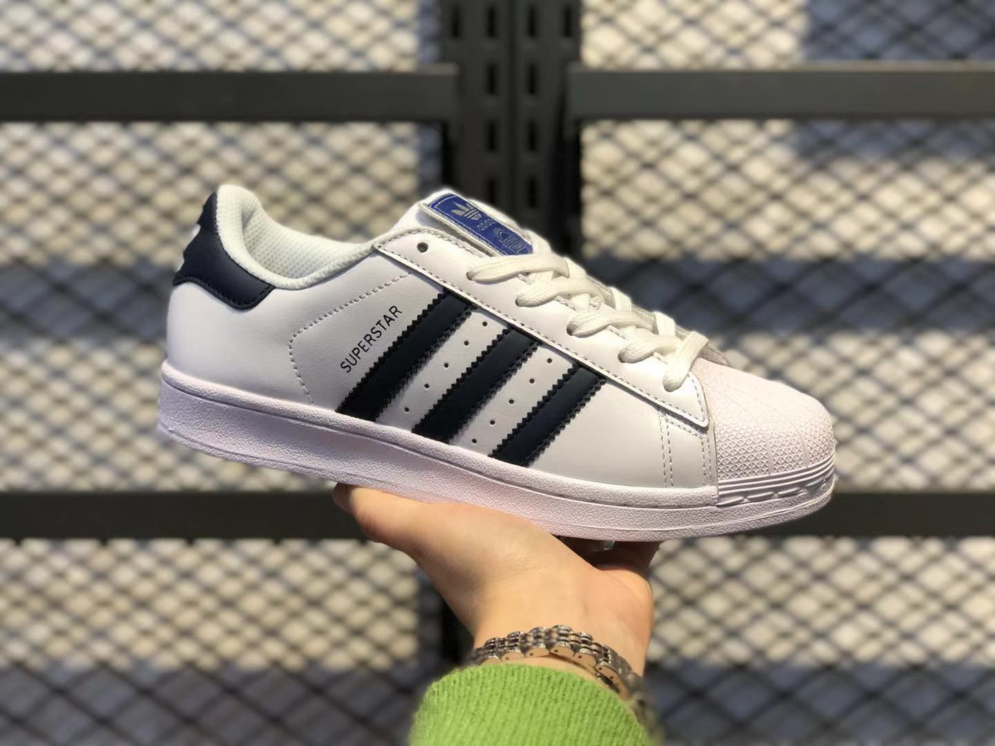 Adidas Superstar Cloud White/Collegiate Navy Skate Boarding Shoes FV3577