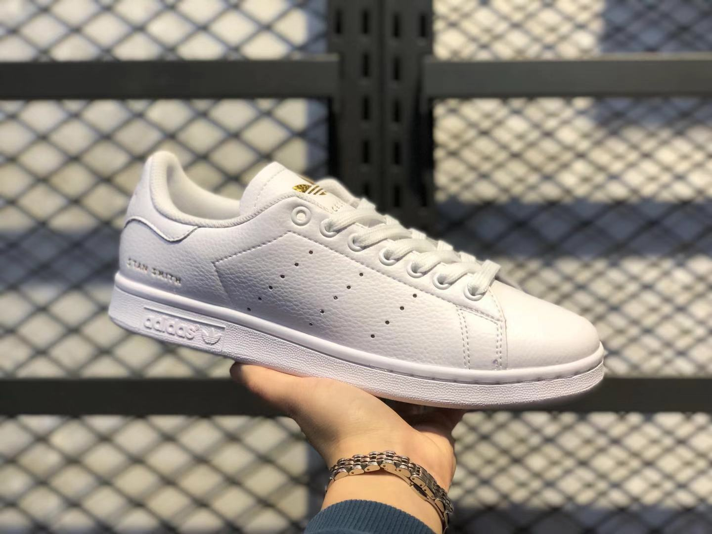 WMNS Adidas Superstar White/Gold Stan Smith Shoes FU9193 Free Shipping
