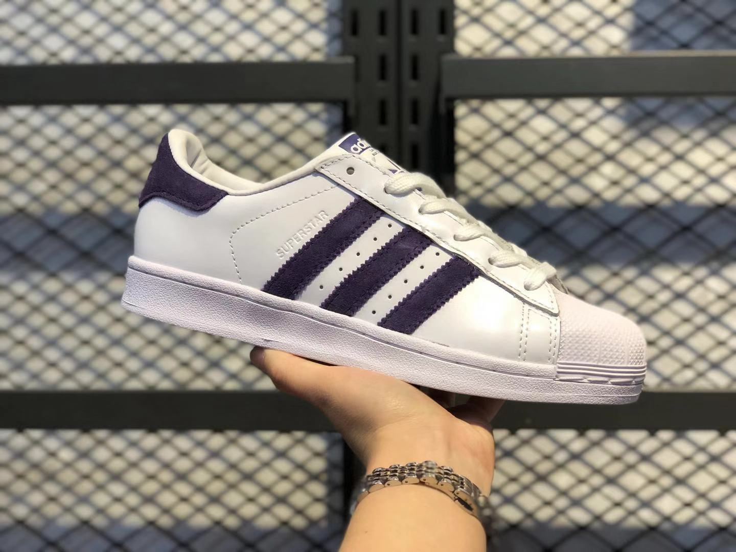Adidas Superstar White/Dark Blue EF9241 Lifestyle Shoes For Online Sale