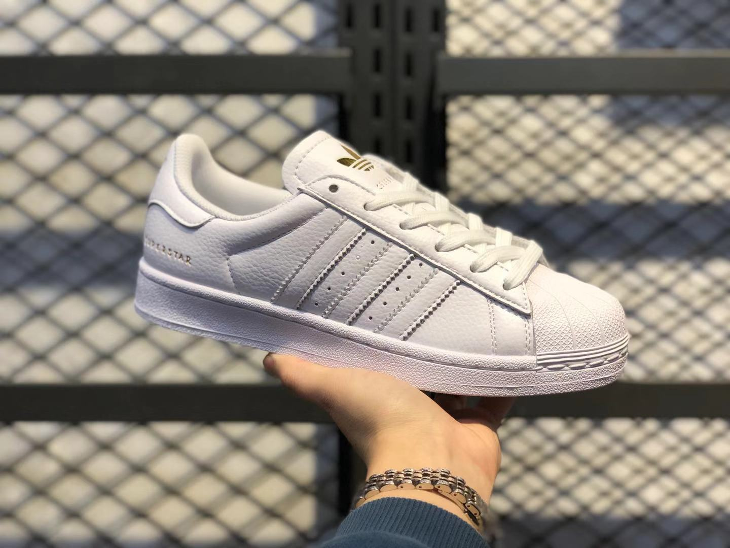 Adidas Superstar White/Gold Women's Life Classic Shoes Online Buy FU9196