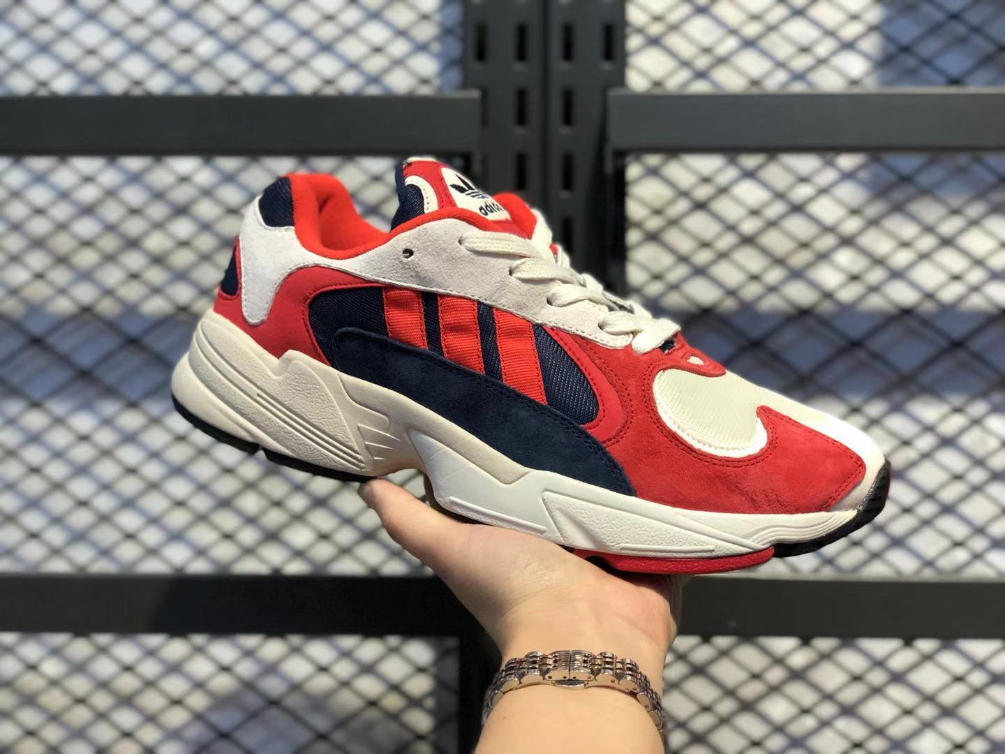 Adidas Yung-1 Chalk White/Core Black-Collegiate Navy Sneakers For Sale B37615