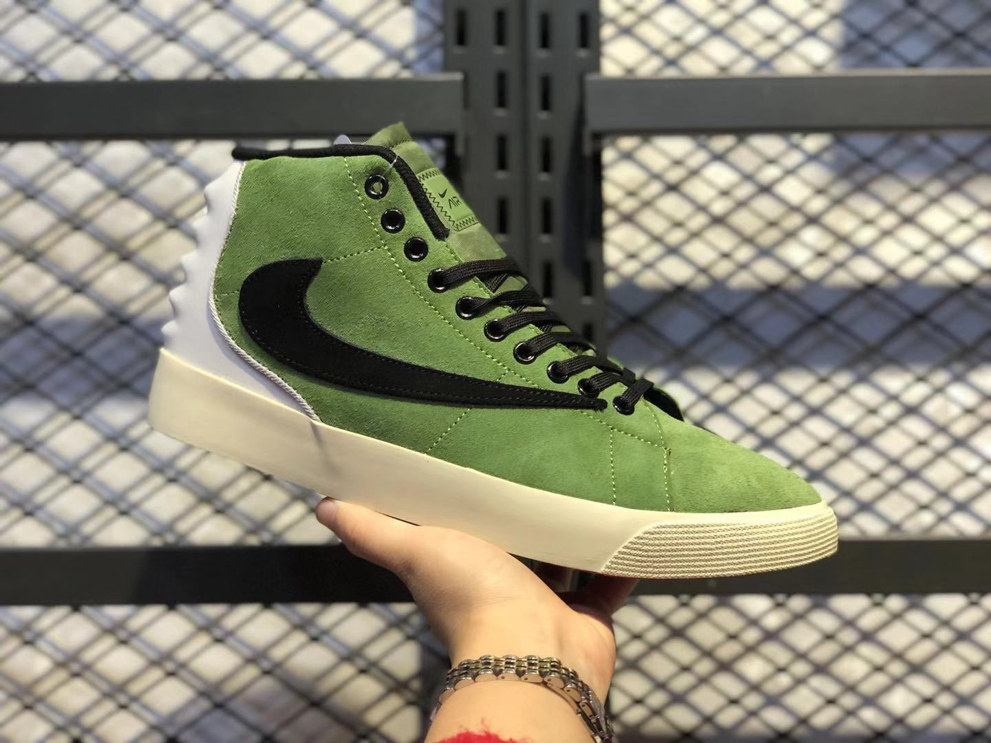 Best Sell Nike Blazer Mid Green/Black-White Lifestyle Shoes UP7799-003