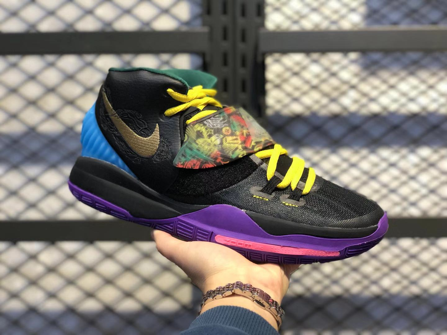Buy Nike Kyrie 6 Black/Fluorescent Yellow-Multi-Color Men's Sneakers CD5029-001