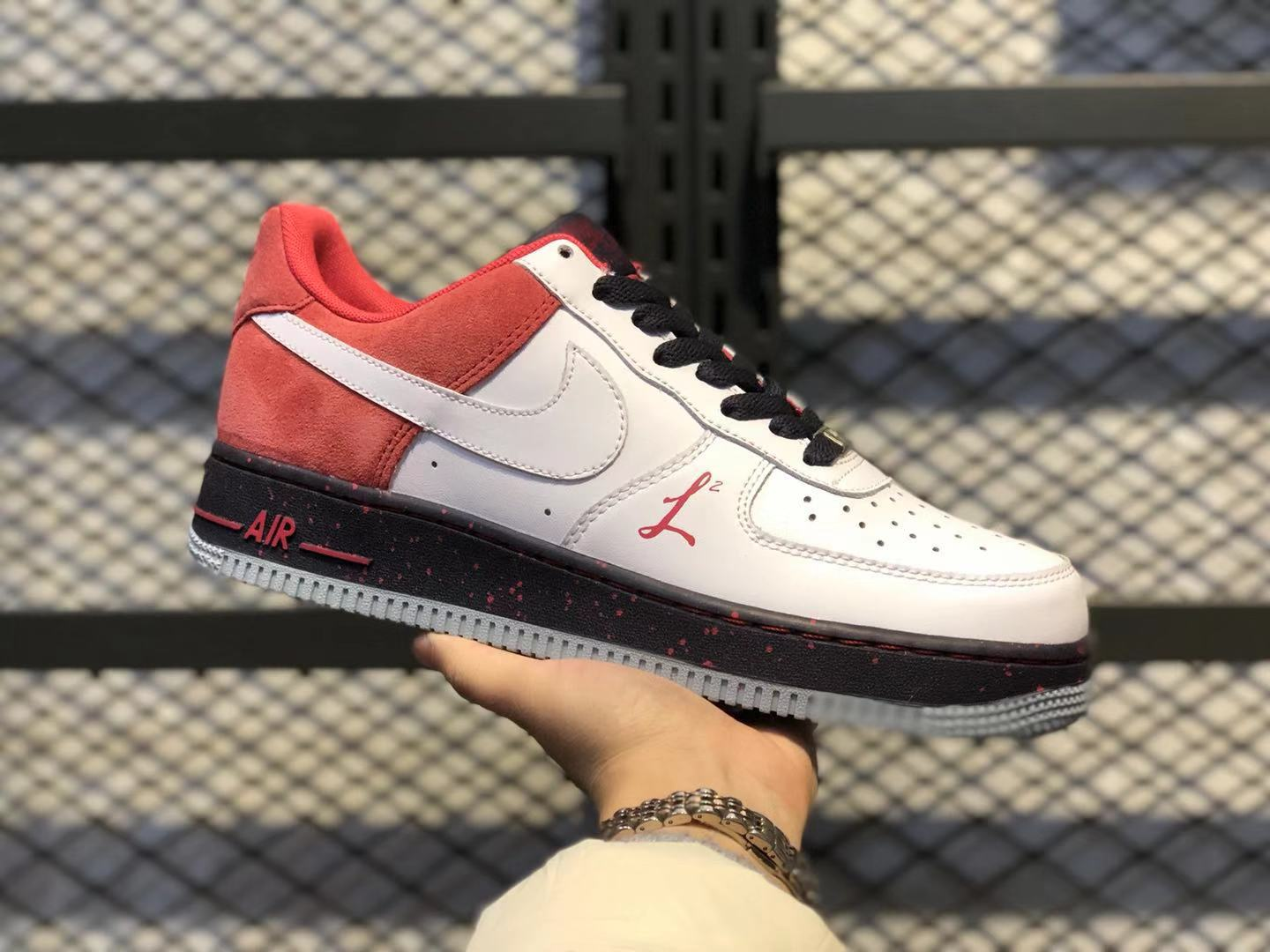 Nike Air Force‎ 1 Low White/Black-Red Men's Casual Shoes For Online Sale