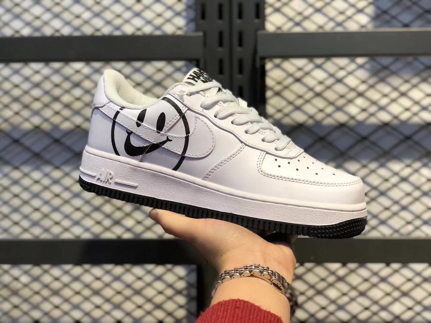 """Nike Air Force 1 GS """"Have a Nike Day"""" White/Black Shoes To Buy BQ9044-100"""