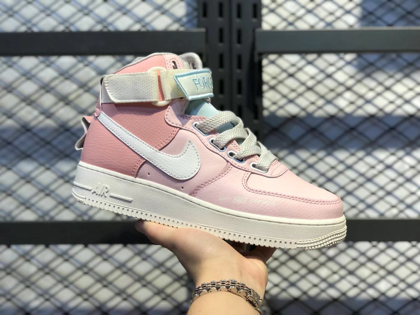 """Nike Air Force 1 High Utility """"Force is Female"""" Echo Pink/Sail To Buy CQ4810-621"""