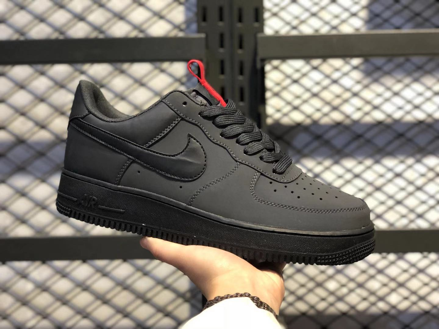 Nike Air Force 1 Low Black/Anthracite-Red Men's Running Shoes Hot Sale