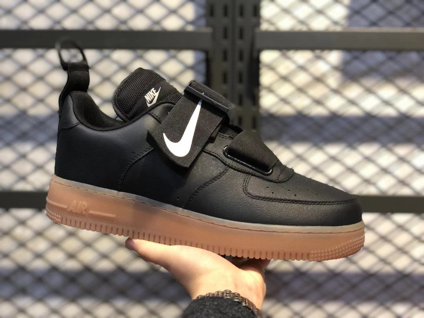 Nike Air Force 1 Low Utility Black/Medium Brown AO1531-002 Free Shipping
