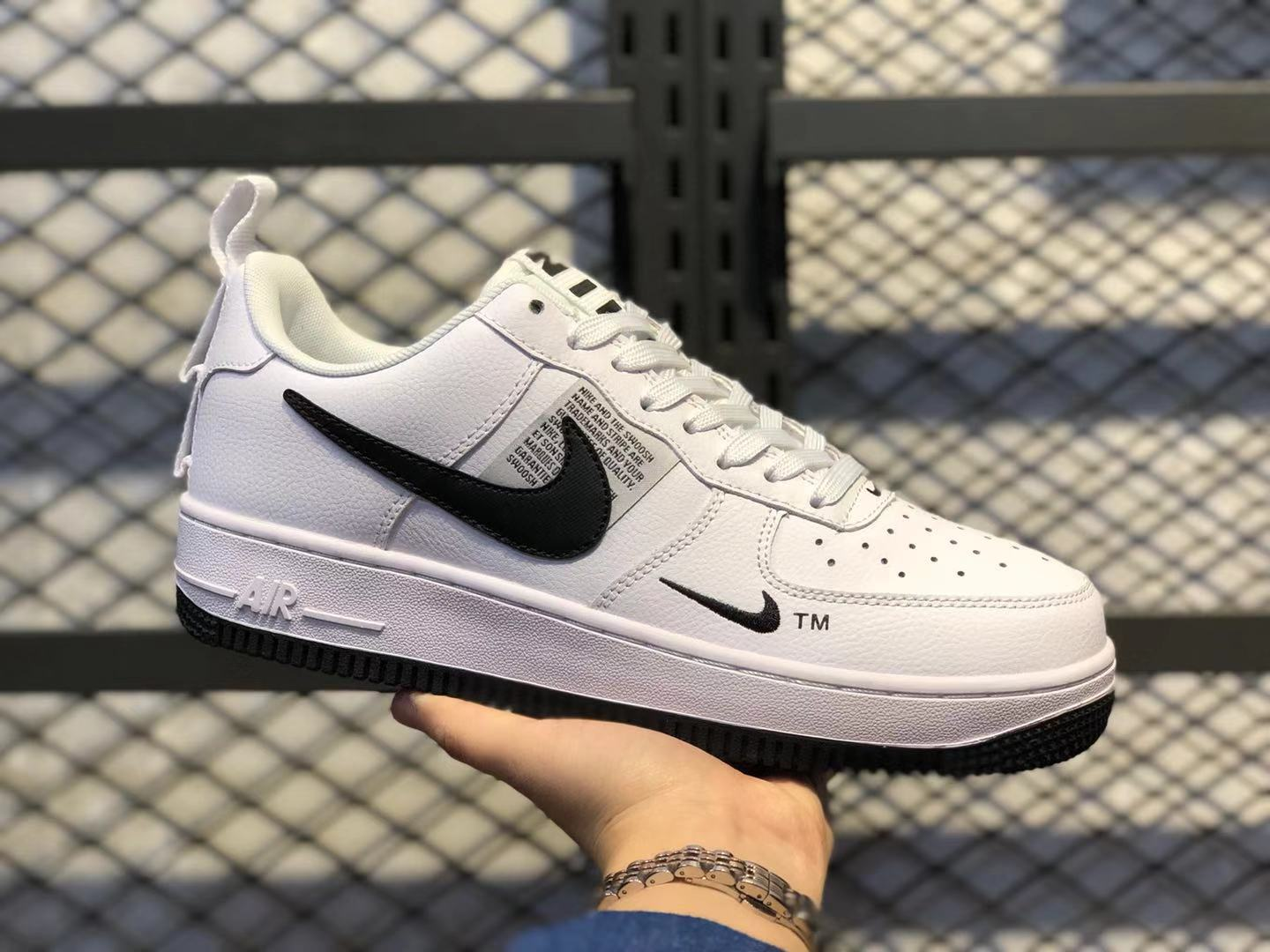 Nike Air Force 1 Low White/Black-White Casual Shoes For Sale CQ4611-100