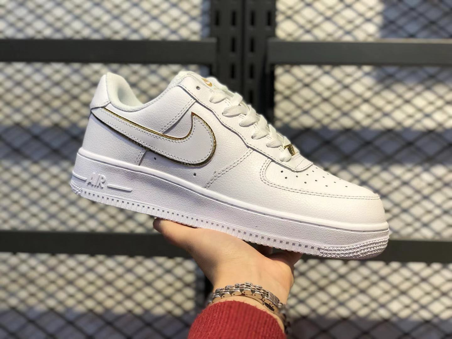 Nike Air Force 1 Low White/Gold Casual Shoes AO2132-102 For Online Sale