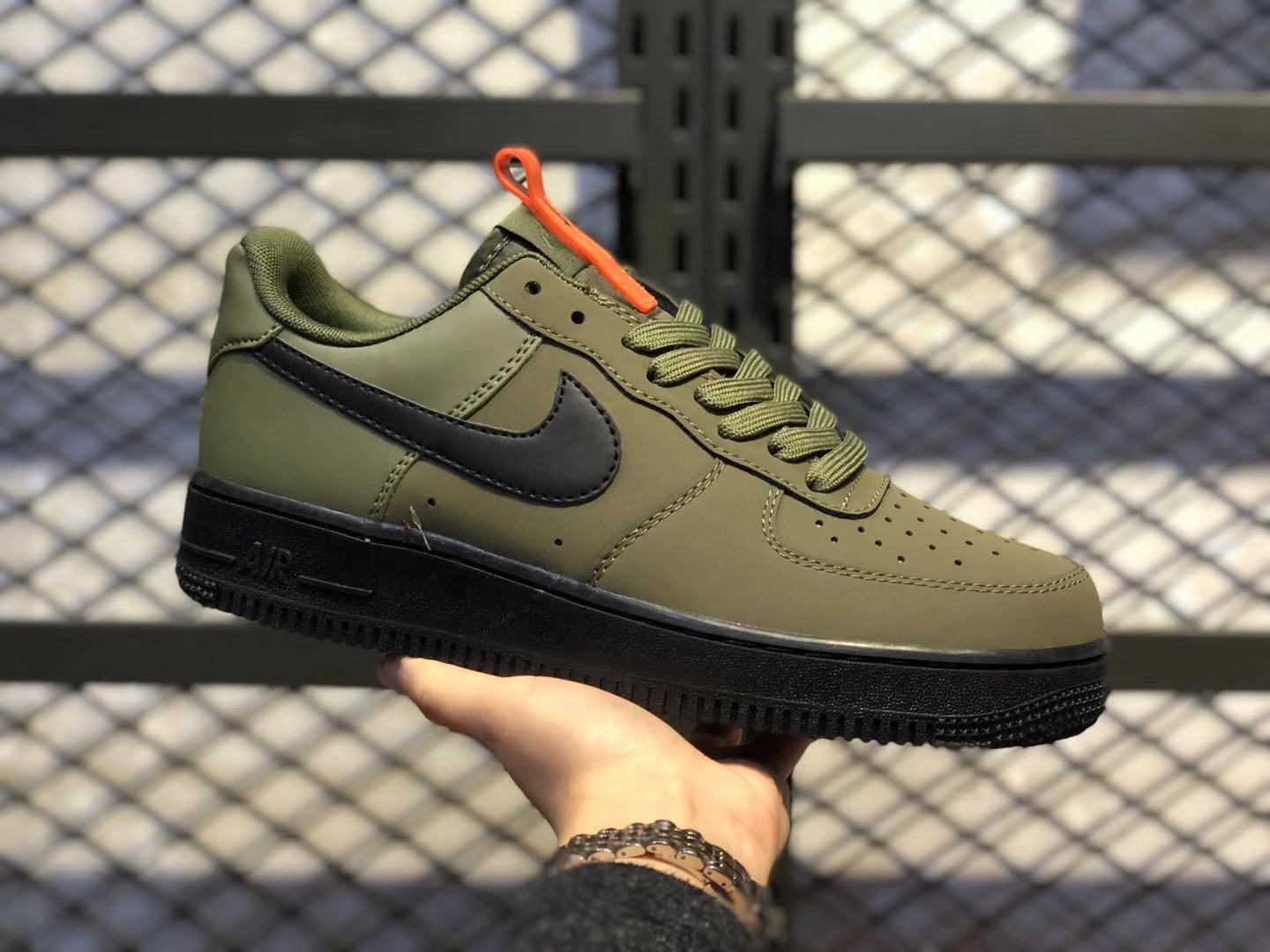 Nike Air Force 1 Medium Olive/Starfish/Black Men's Sneakers BQ4326-200