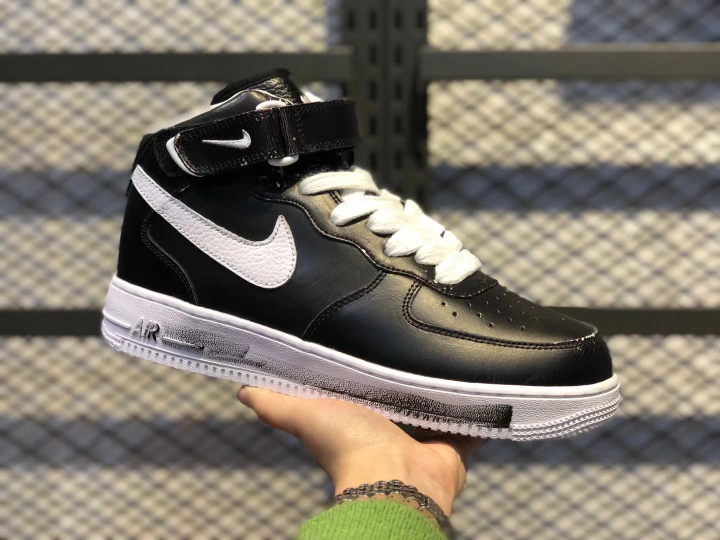 "Nike Air Force 1 Mid ""Para-noise"" Black/White Casual Sneakers On Sale AQ3692-001"