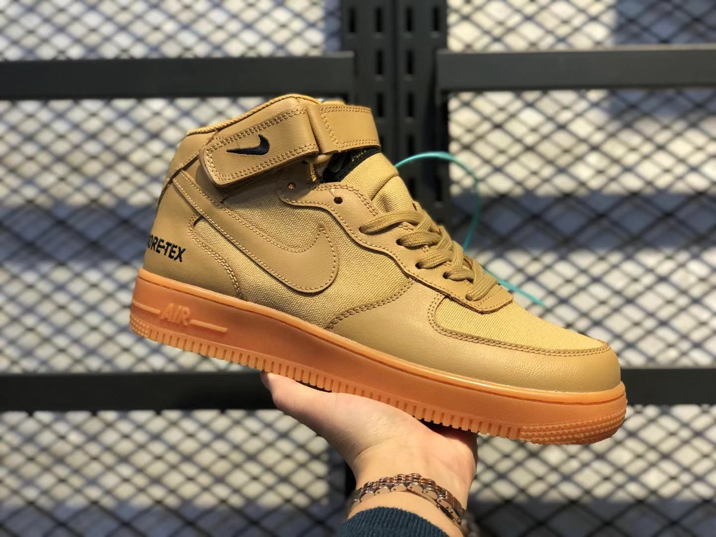 Nike Air Force 1'07 Flax/Flax-Outdoor Green Casual Shoes Super Deals CK2630-101