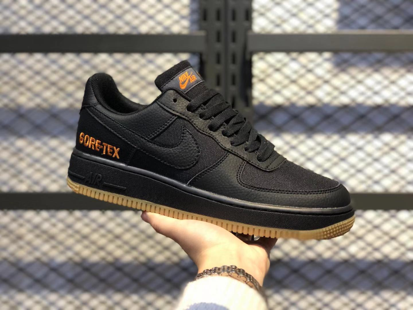 Nike Air Force 1'07 Gore-Tex Black/Black-Yellow CK2630-001 Free Shipping
