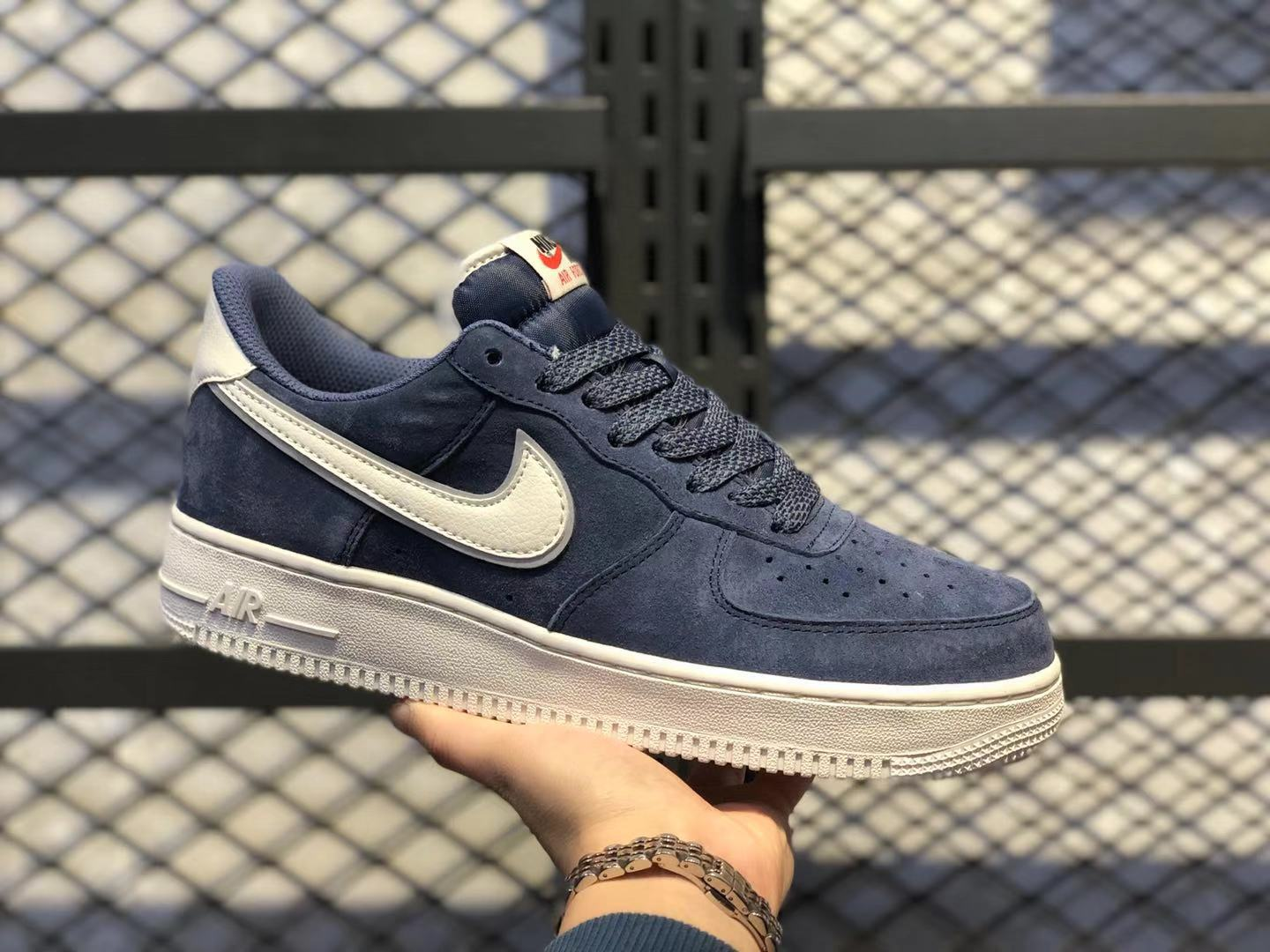 Nike Air Force 1'07 Monsoon Blue/Sail Casual Sneakers For Sale AQ8741-401