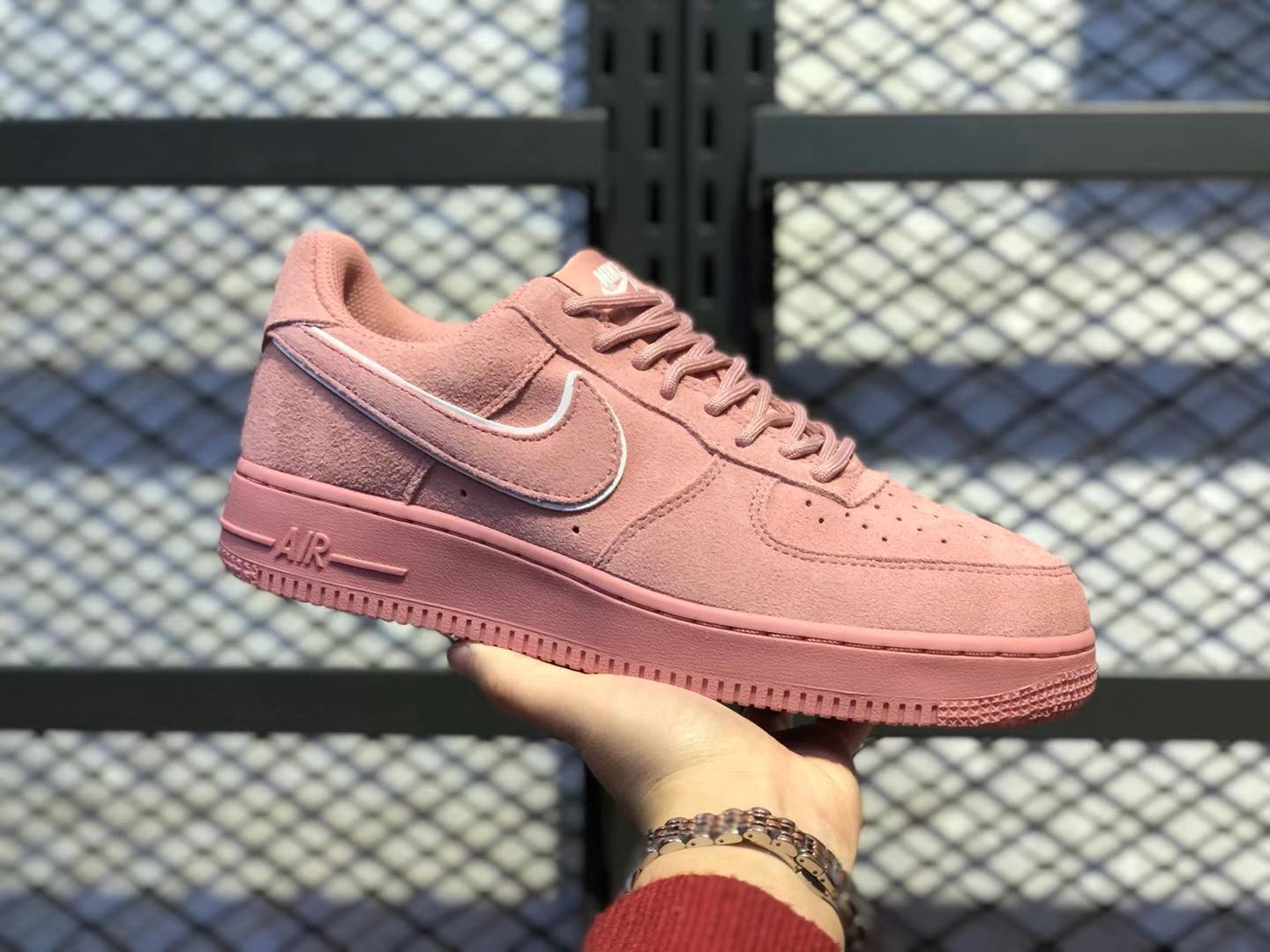 Nike Air Force 1'07 Red Stardust/Dragon Red Top Quality Suede Shoes AA1117-601