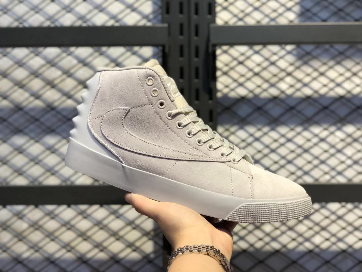 Nike Blazer Mid Grey/Cloud White Top Quality Lifestyle Shoes UP7799-002