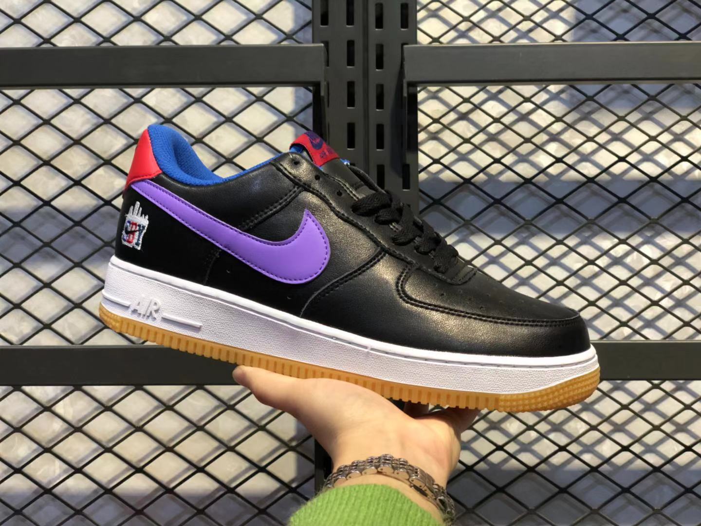 Nike WMNS Air Force 1'07 Black/Sultry Purple-Bright Red For Online Sale CQ7506-146