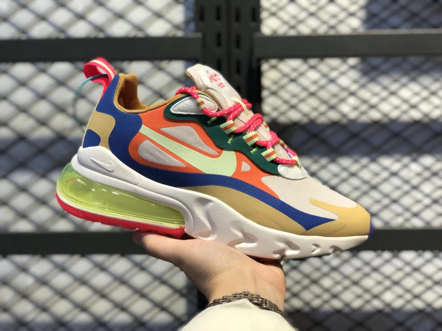 "Nike WMNS Air Max 270 React ""Bauhaus"" Multi Color In Stock CQ4805-071"