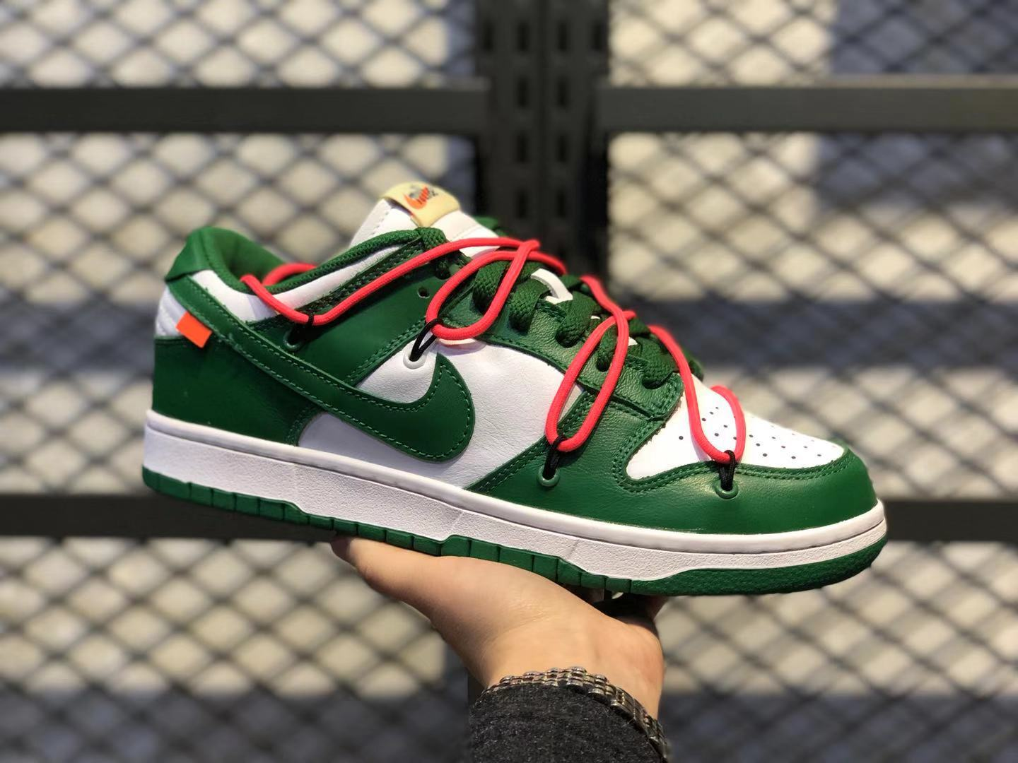 Off-White x Nike SB Dunk Low Pine Green/White CT0856-600 For Online Sale