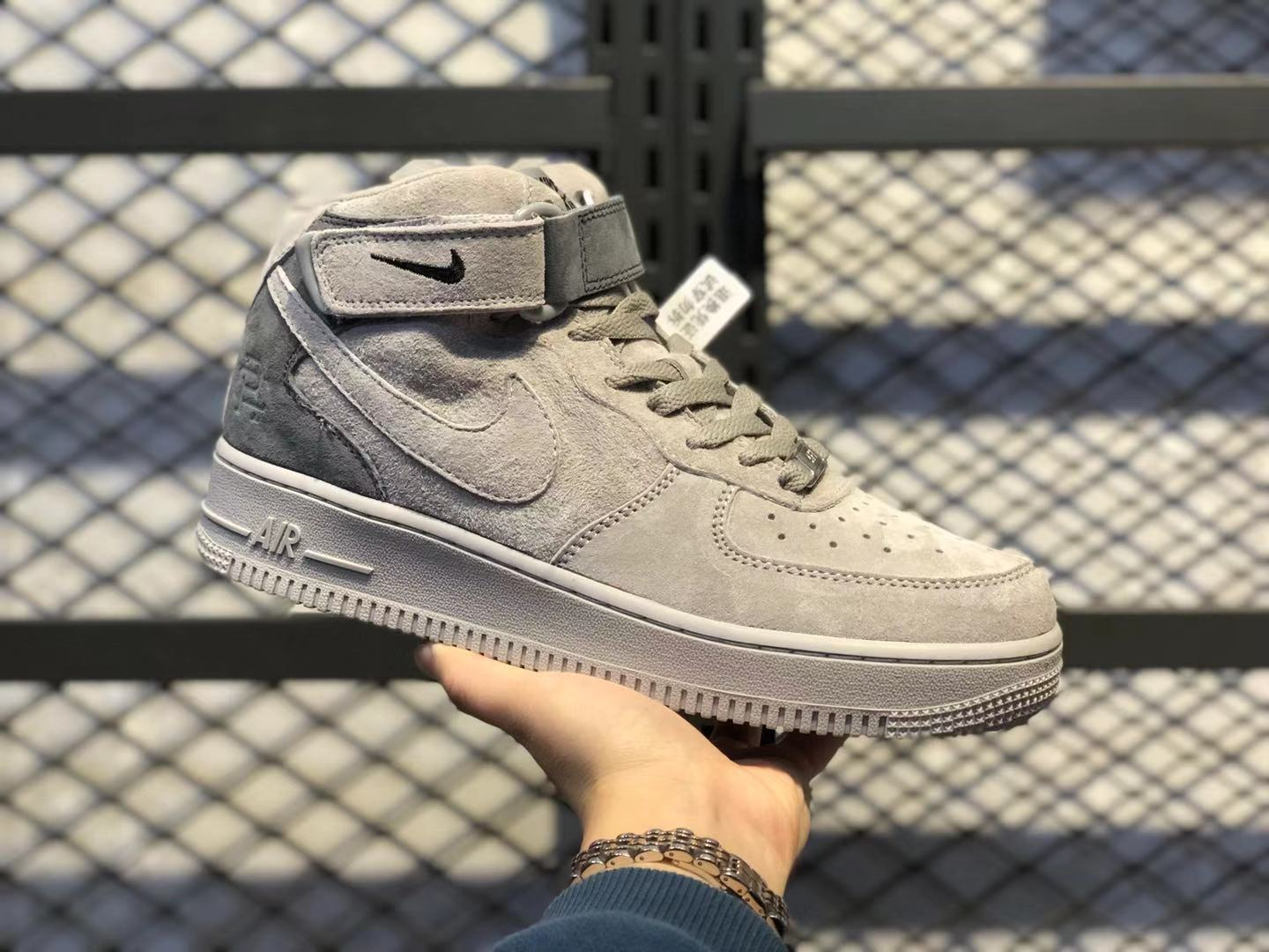 Reigning Champ x Nike Air Force 1 Mid Dark Grey/Grey On Sale 807618-200