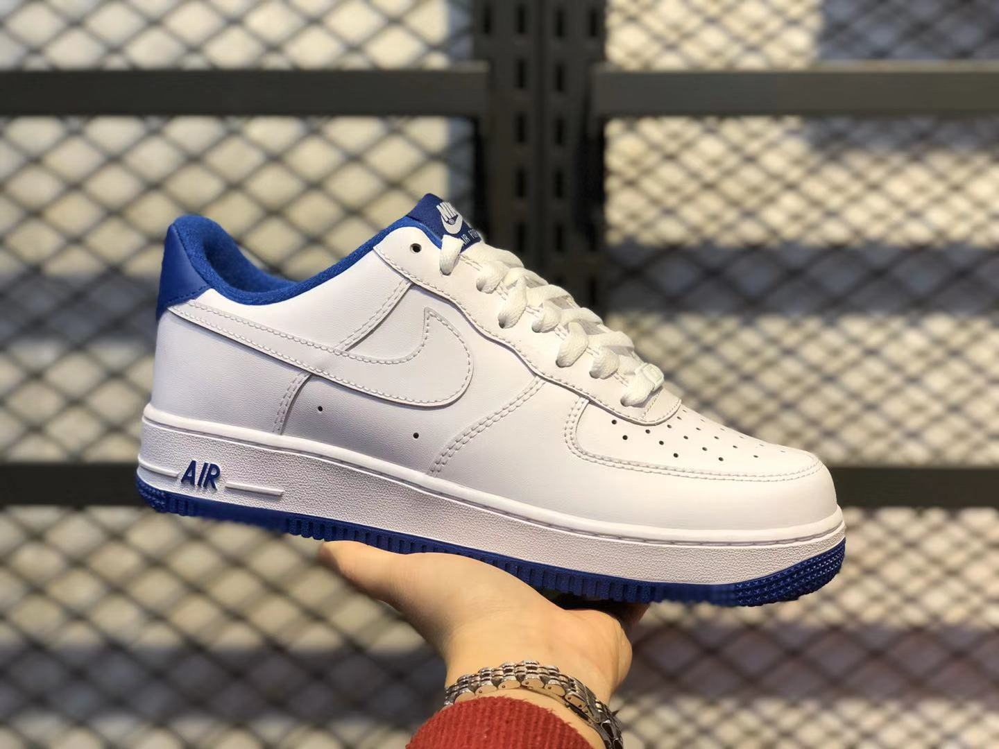 2020 Nike Air Force 1 Low White/Navy Blue Casual Shoes Online Buy CD0884-102