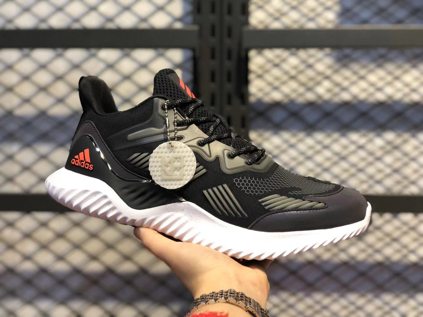Adidas Alphabounce Beyond Black Tech Core Black/Olive Green Free Shipping