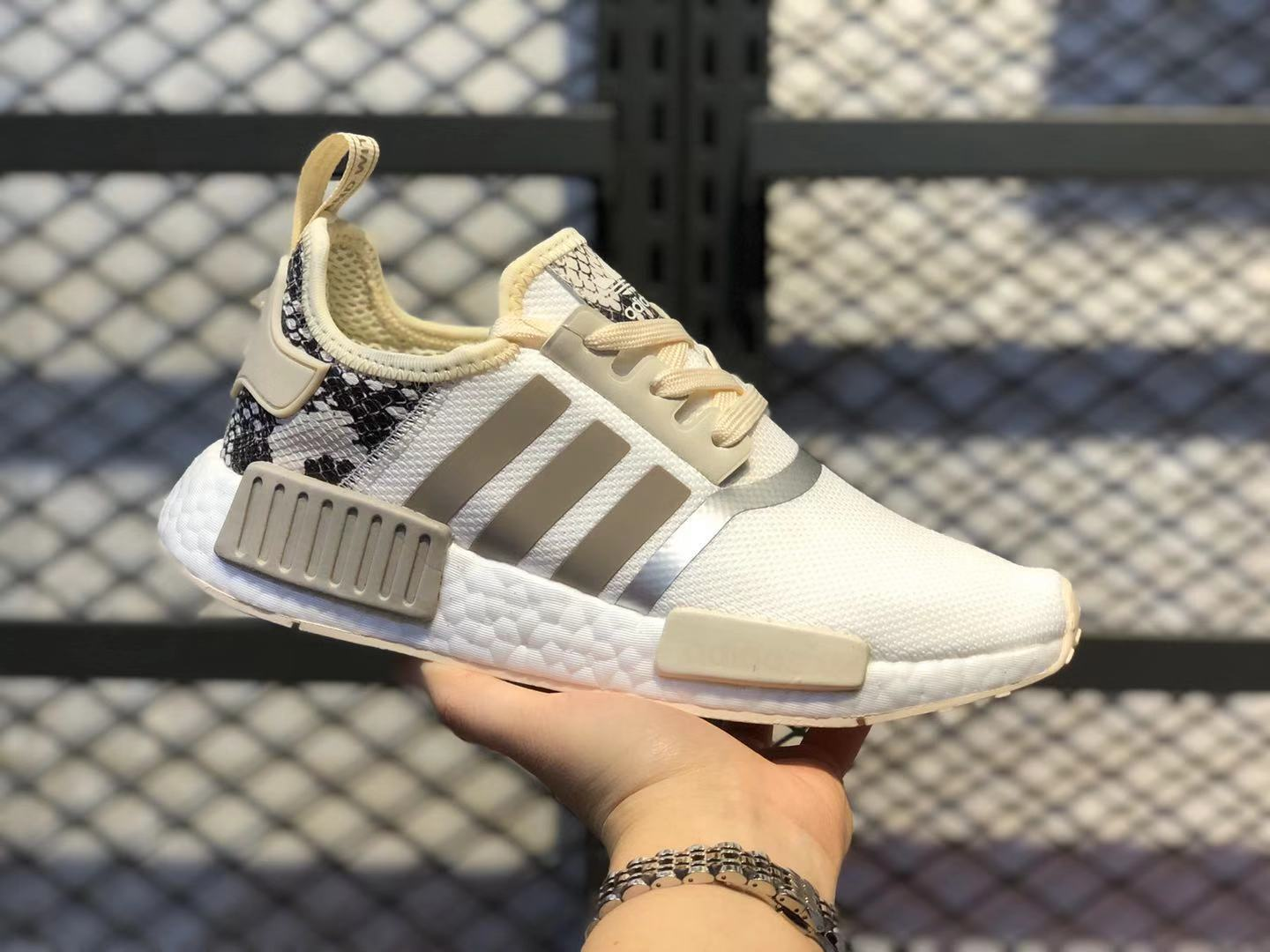 Adidas NMD R1 White/Ecru Tint/Metallic Women's Casual Shoes For Buy FV3883