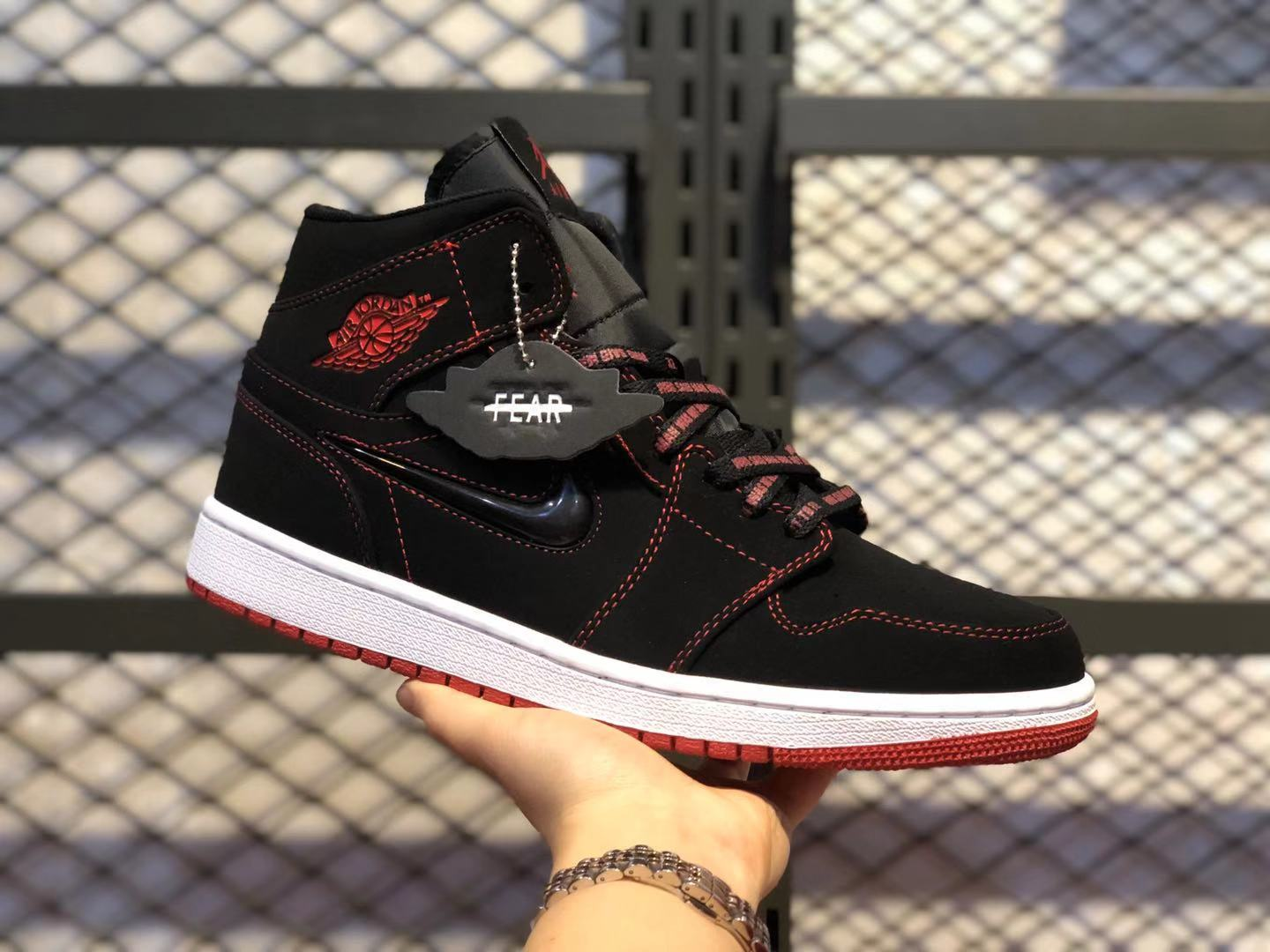 "Air Jordan 1 Mid ""Come Fly With Me"" Core Black/Red For Buy CK5665-062"