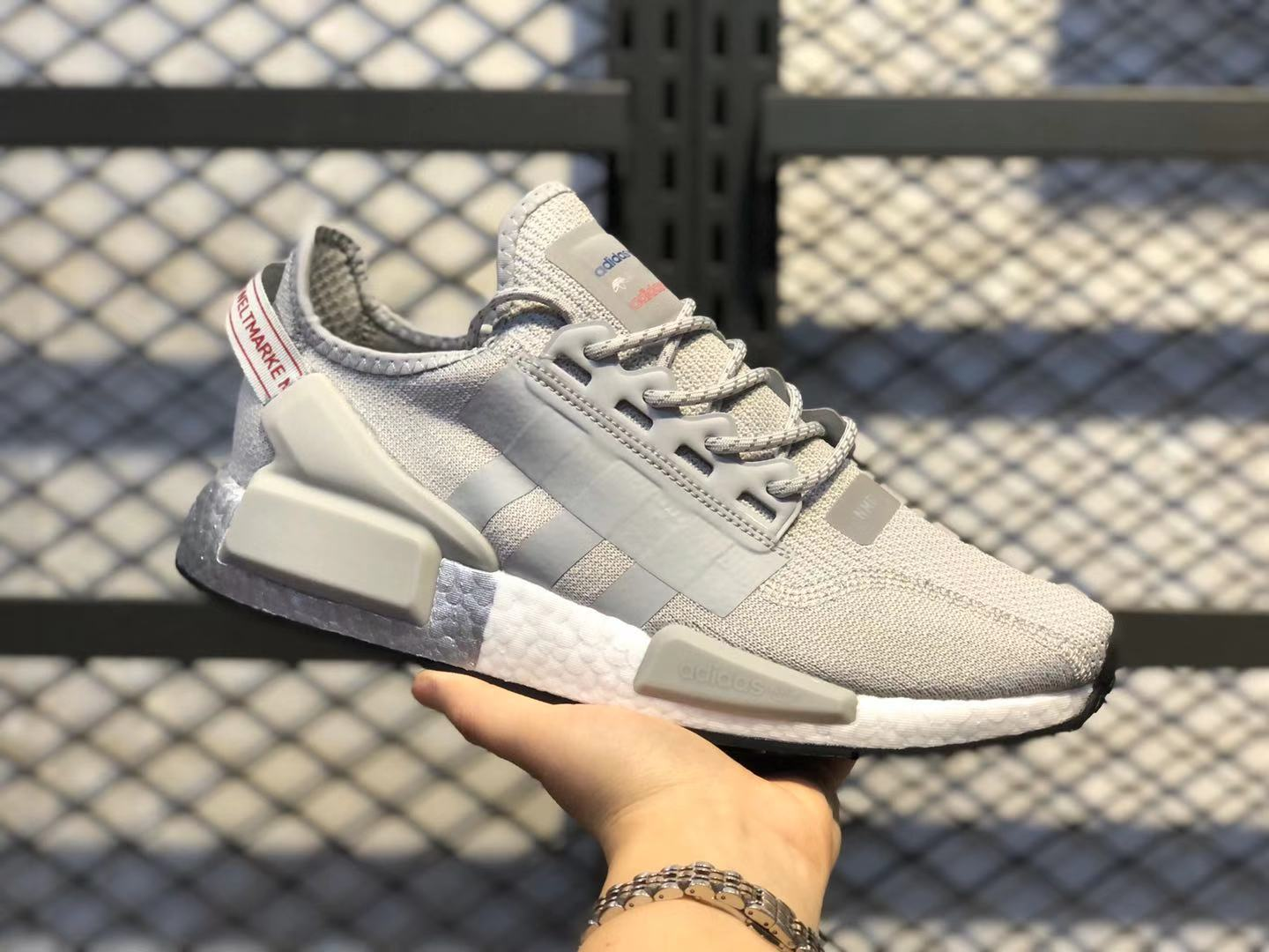 Buy Adidas NMD V2 Grey Two/Silver Metallic-Core Black FW5328 Running Shoes