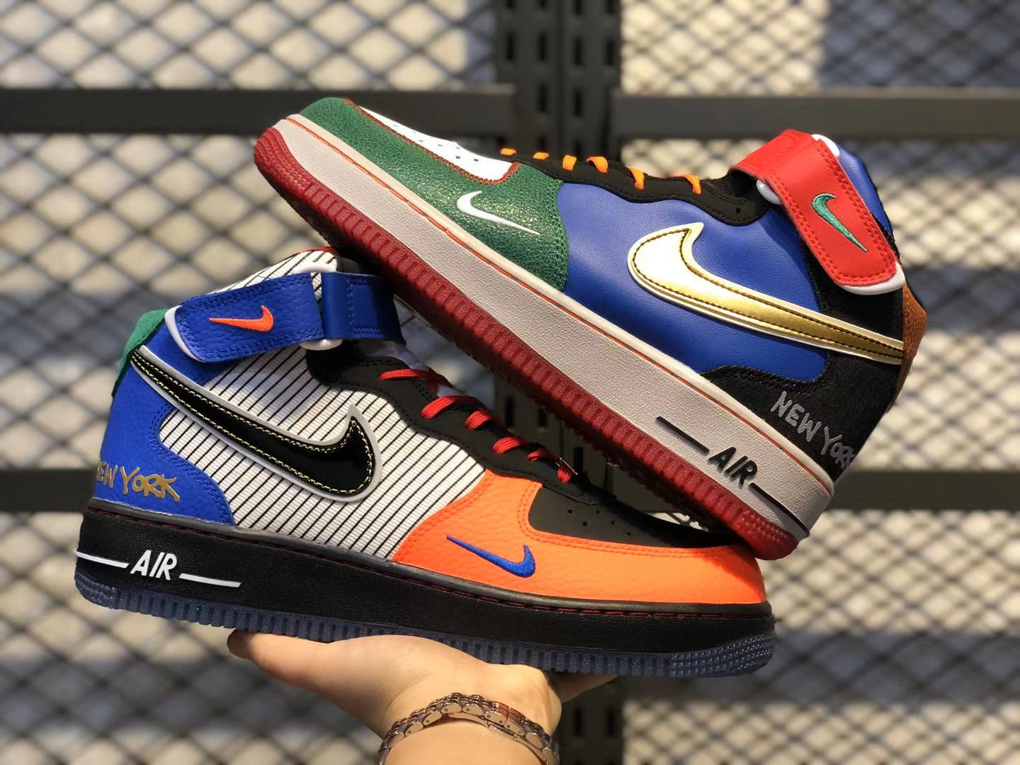 Nike Air‌ Force 1 Mid‌ Orange/Multi-Color-Rainbow Life Classic Shoes To Buy