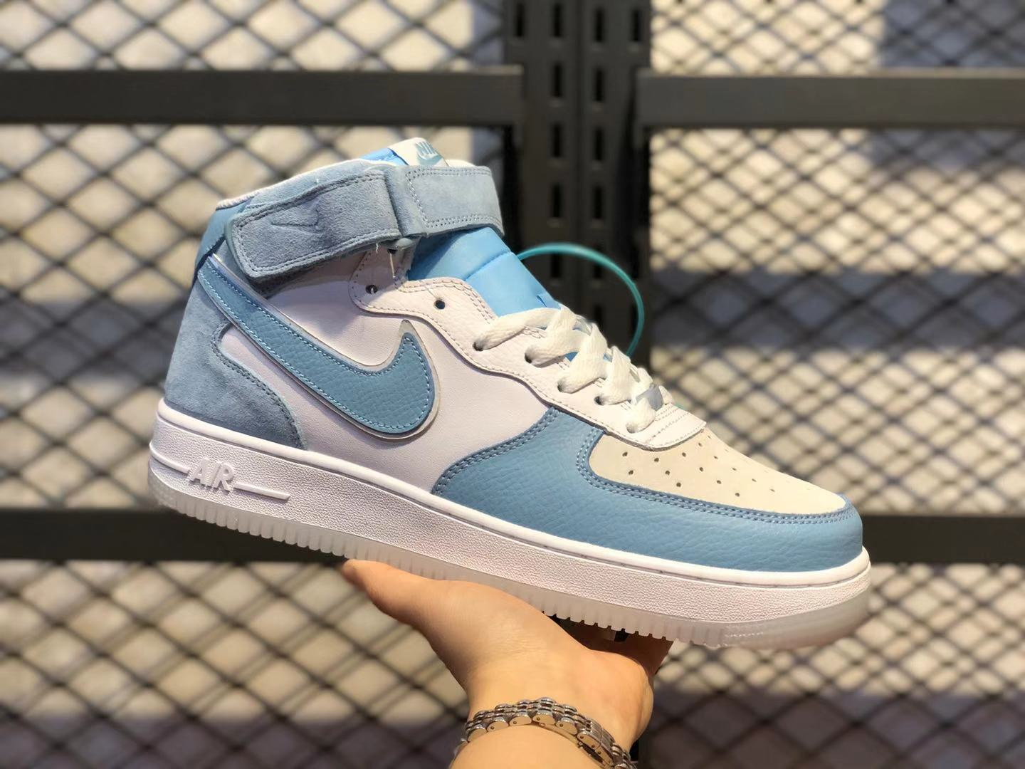 Nike Air Force 1 Low Lake Blue/White Casual Sneakers AO2425-401 Online Buy