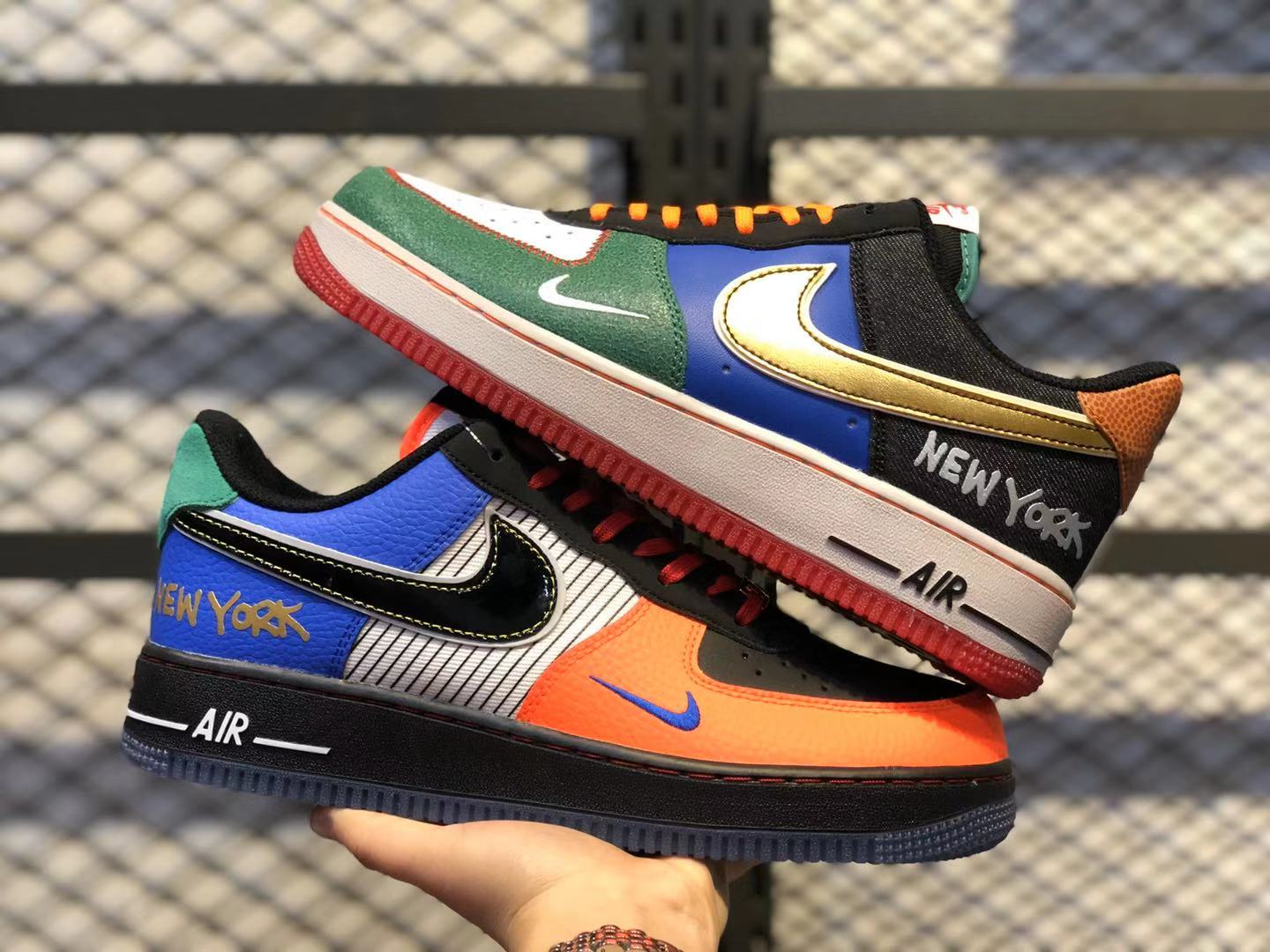 Nike Air Force 1'07 Low White/Black-Total Orange-Racer Blue For Sale CT3610-100