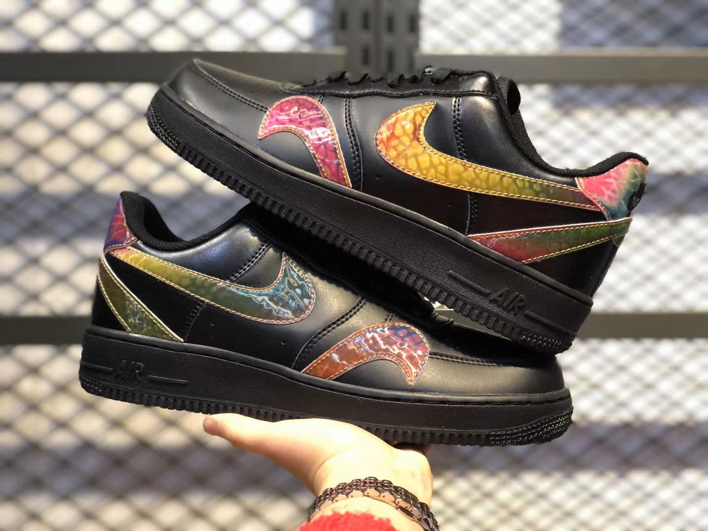 Nike Air Force Low 1'07 Black/Reflective Silver Newest Sport Shoes CK7214-001
