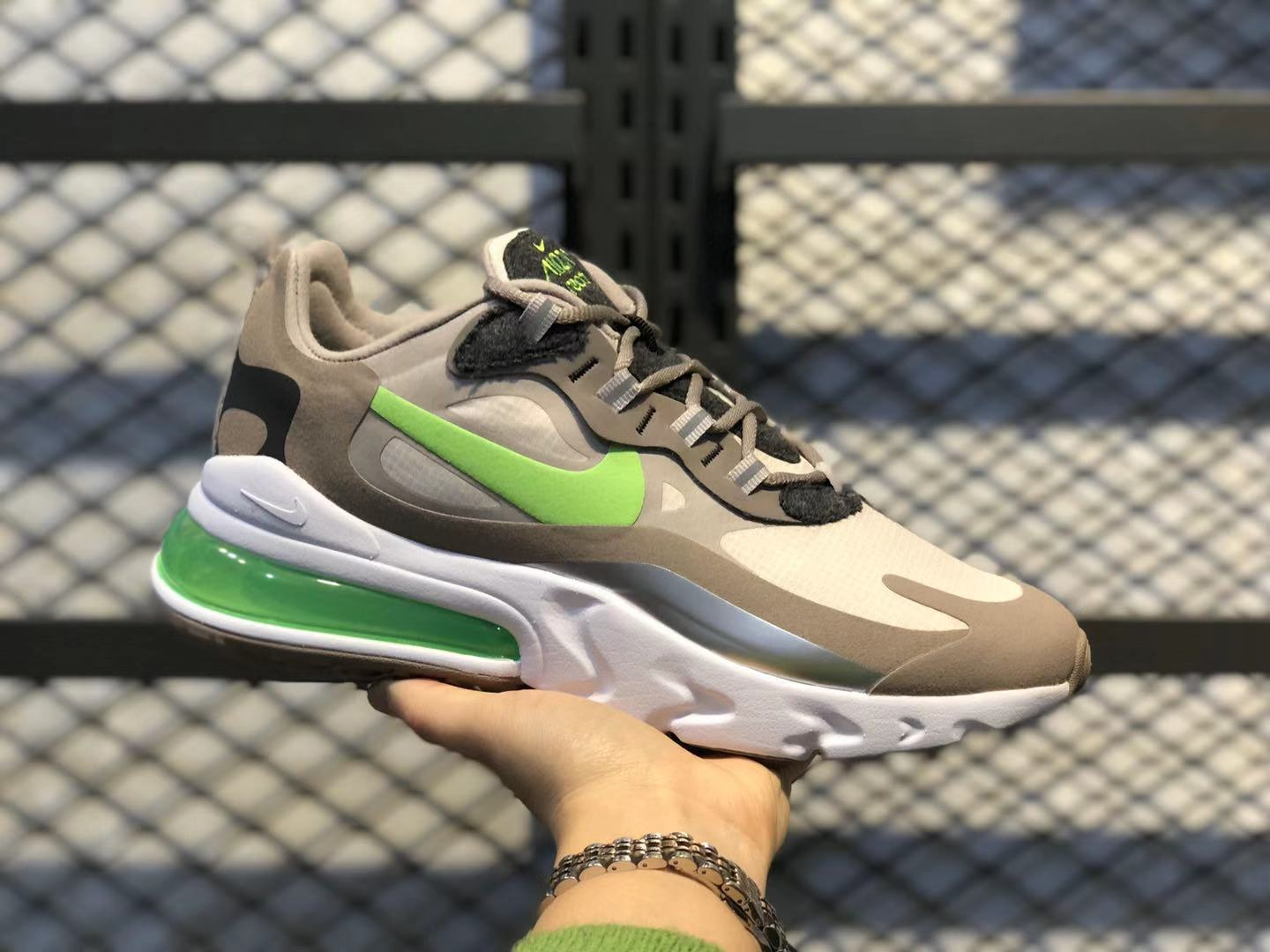Nike React Air Max 270 Just Do It Brown/White-Pine Green For Online Sale