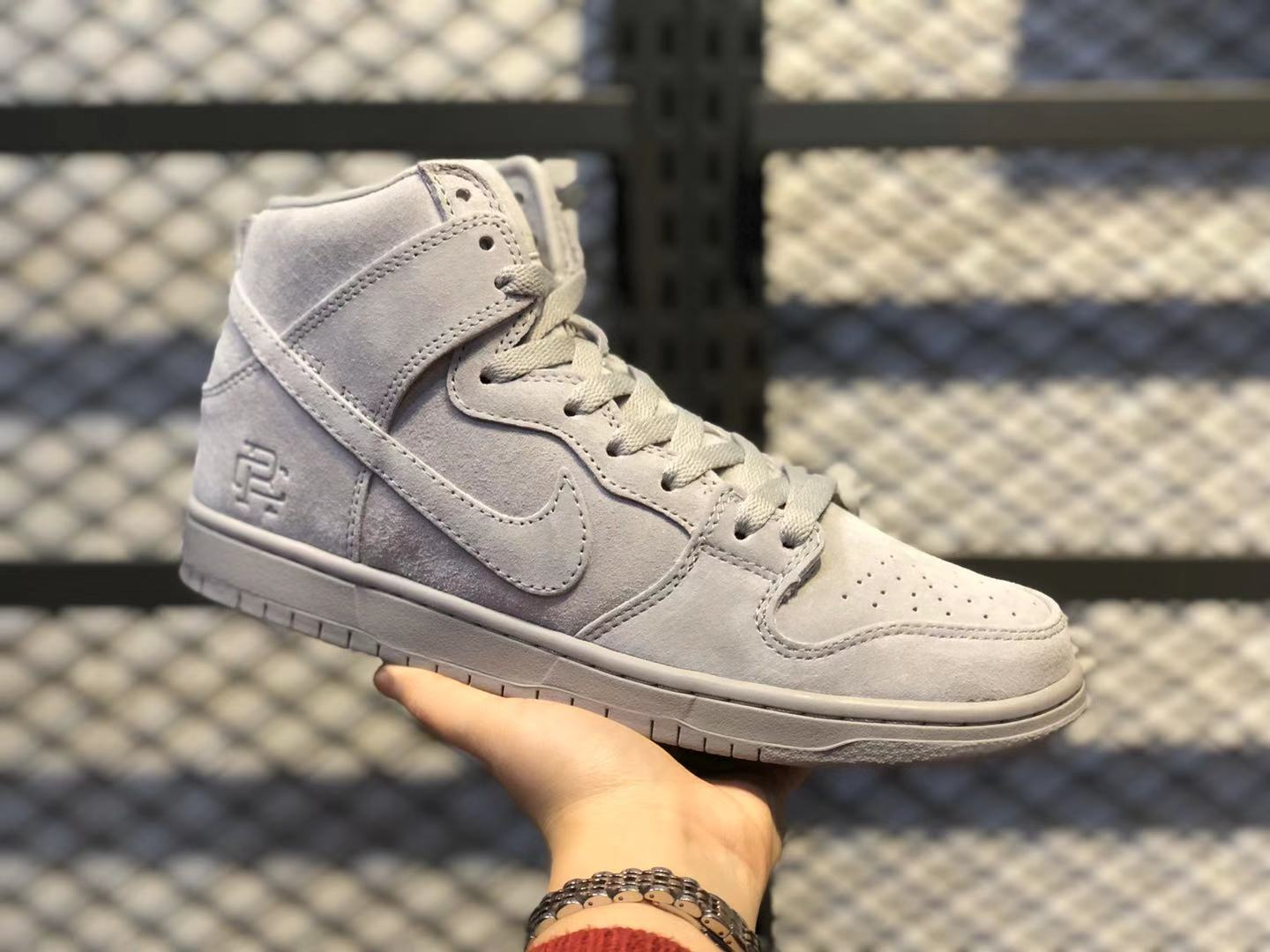 Reigning Champ x Nike SB Zoom Dunk High Wolf Grey For Sale AA2266-600