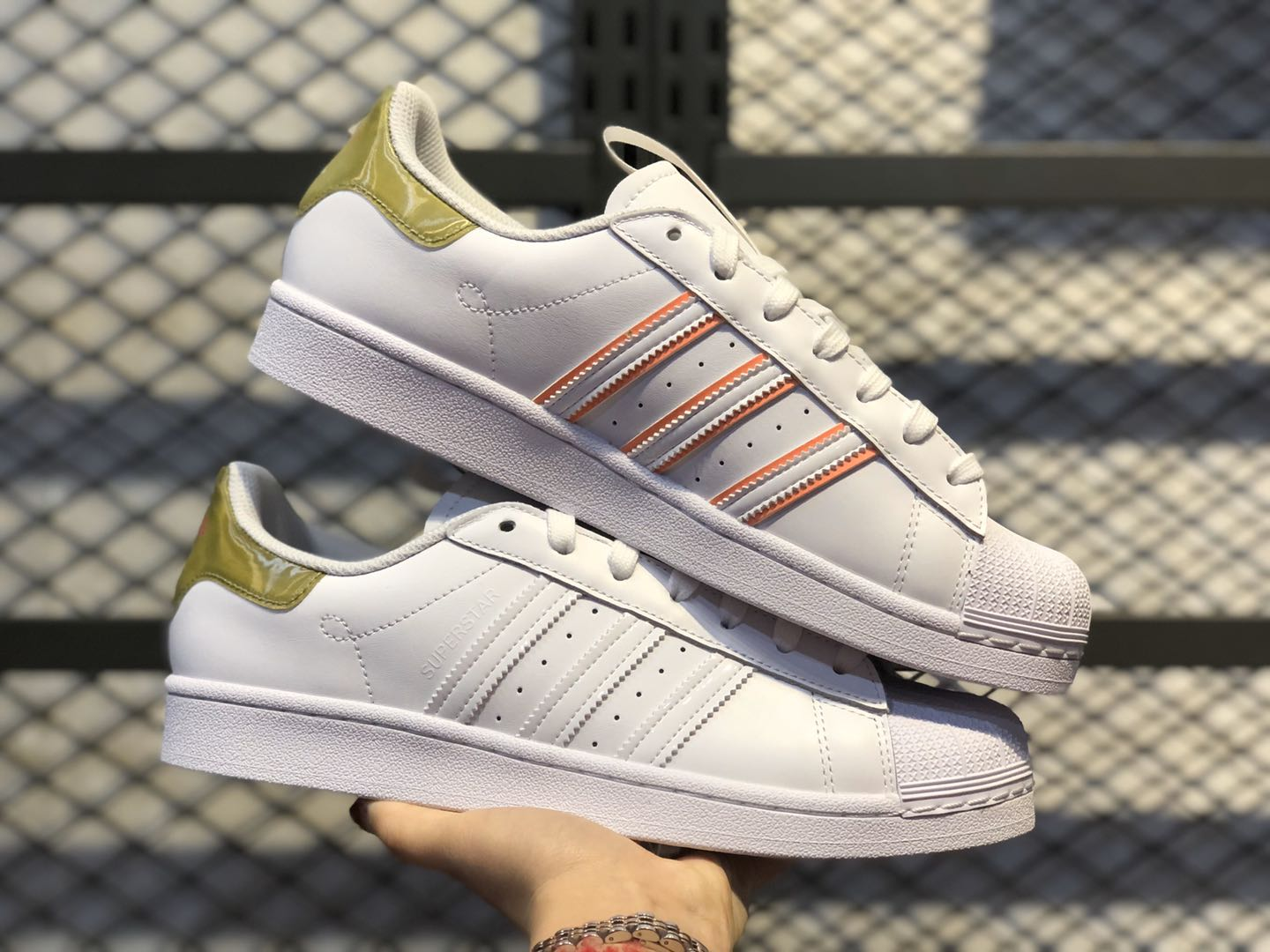 "2020 Adidas Superstar Shoes ""Shang Hai"" White/Gold Online Buy"