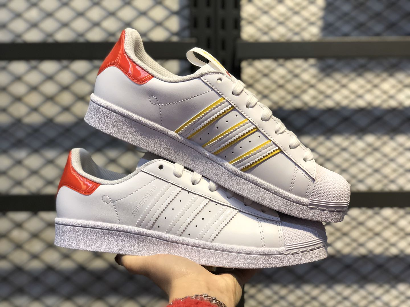 "Adidas Superstar ""Bei Jing"" White-Red FW2829 Life Classic Shoes"