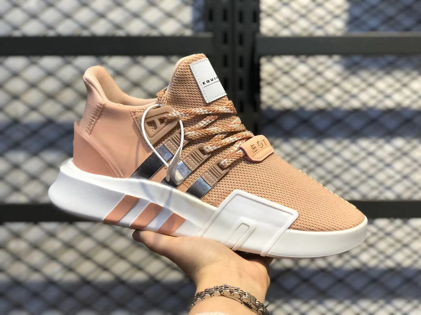 Adidas WMNS EQT Bask ADV Hidden Pink/White-Silver Metallic On Sale EE5036